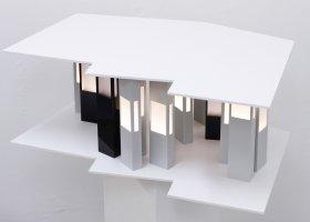 Individual Compound, Licht object, ca 100x70x30cm Forex, plexiglas, LED licht
