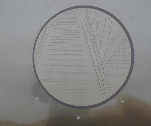 Iron door with circle
