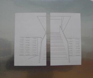 Iron door whit two rectangles